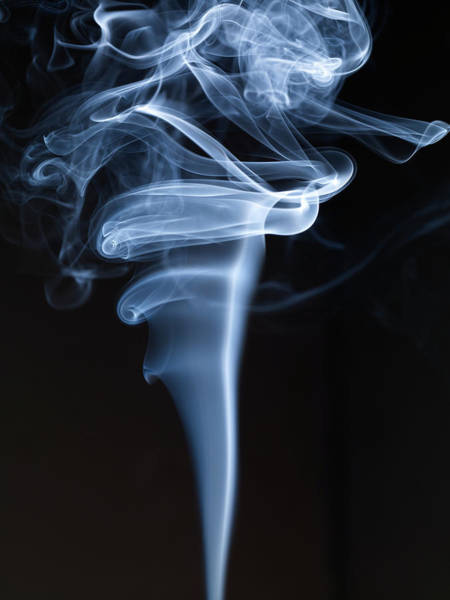 Black Background Photograph - Smoke by Level1studio