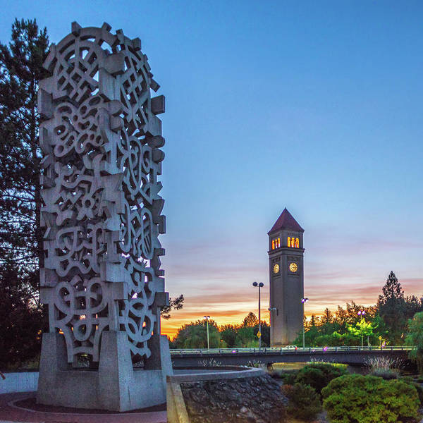 Photograph - Spokane River In Riverfront Park With Clock Tower by Alex Grichenko