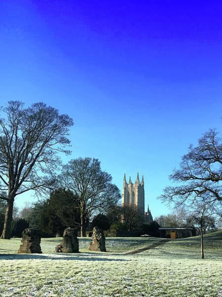 Wall Art - Photograph - st Edmundsbury Cathedral in Winter by Tom Gowanlock