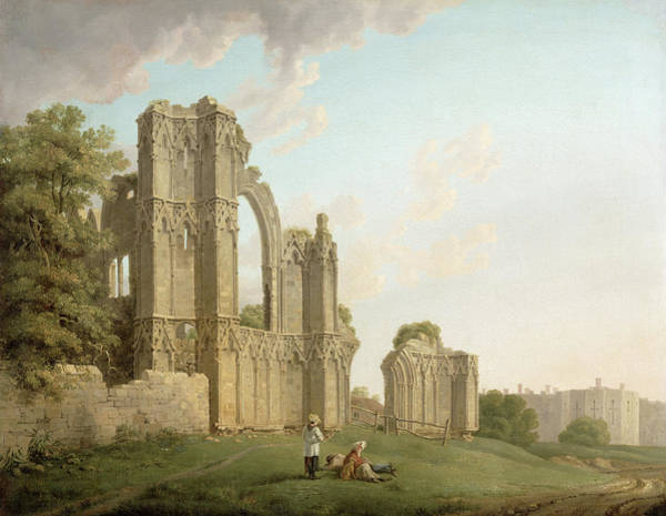 Collapse Painting - St Mary's Abbey, York by Michael Rooker