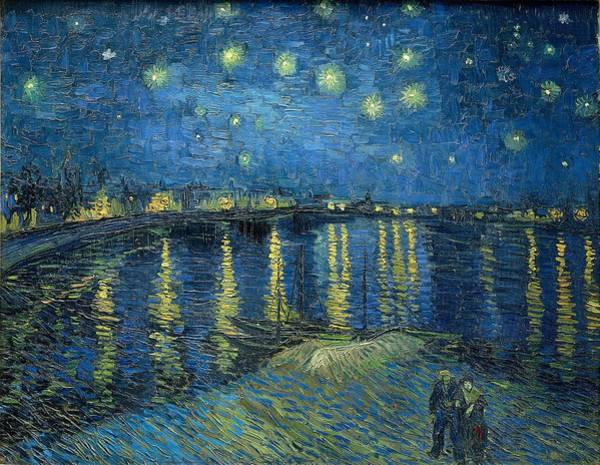 Painting - Starry Night Over The Rhone 1888 by Vincent Van Gogh