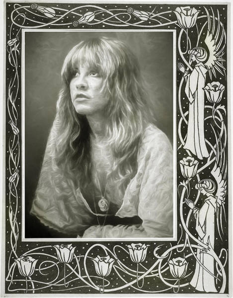 Wall Art - Mixed Media - Stevie Nicks Fleetwood Mac by Mal Bray