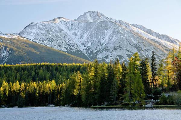 High Tatras Wall Art - Photograph - Strbske Pleso - Mountain Lake In Morning by Yorkfoto