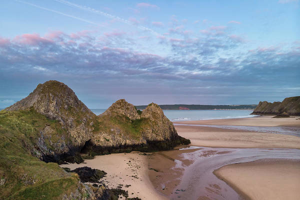 Wall Art - Photograph - Stunning Colorful Drone Landscape Image Of Three Cliffs Bay In S by Matthew Gibson