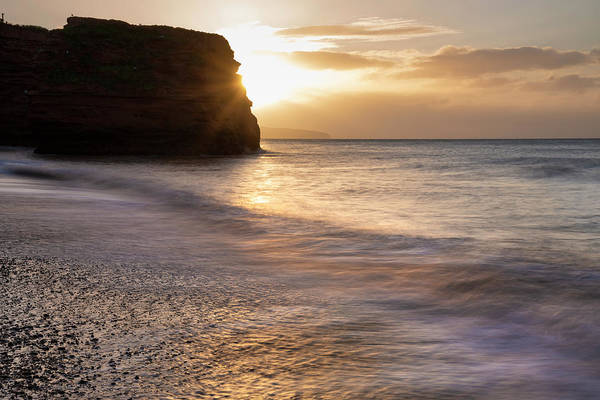 Wall Art - Photograph - Stunning Sunrise Landscape Image Of Ladram Bay Beach In Devon En by Matthew Gibson
