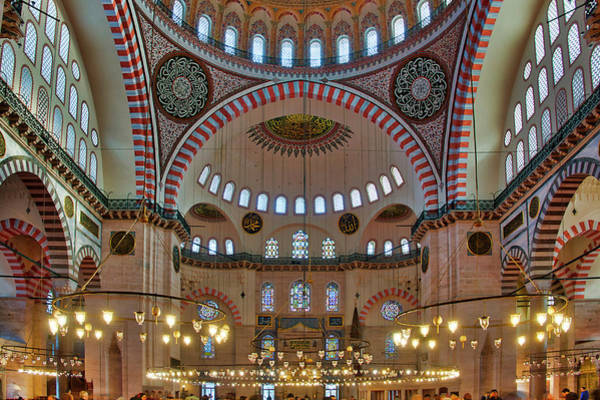 Photograph - Interior Of The Suleymaniye Mosque  by Fabrizio Troiani