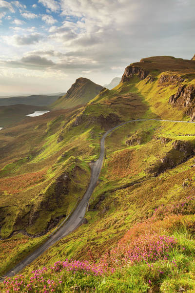 Contrasts Photograph - Sunrise At Quiraing, Isle Of Skye by Sara winter