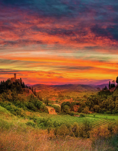 Wall Art - Photograph - Sunset On Medieval Valley by Gone With The Wind