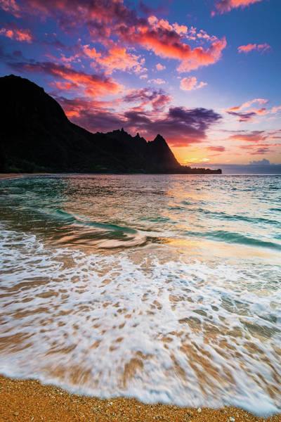 Wall Art - Photograph - Sunset Over The Na Pali Coast by Russ Bishop