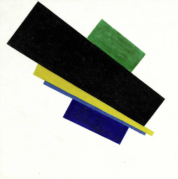 Wall Art - Painting - Suprematism, 18th Construction by Kazimir Malevich