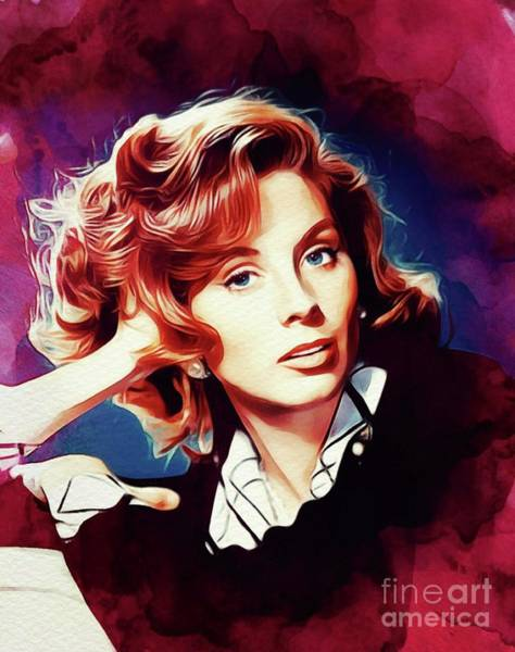 Wall Art - Painting - Suzy Parker, Vintage Actress by John Springfield