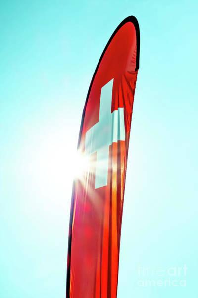 Photograph - Swiss Flag by Mats Silvan