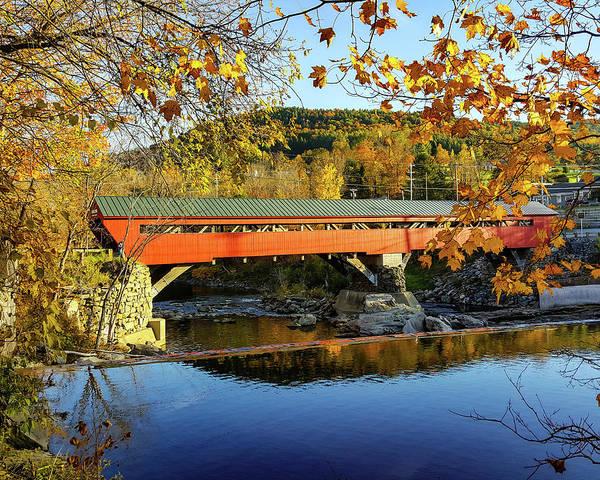 Photograph - Taftsville Covered Bridge by Jeff Folger