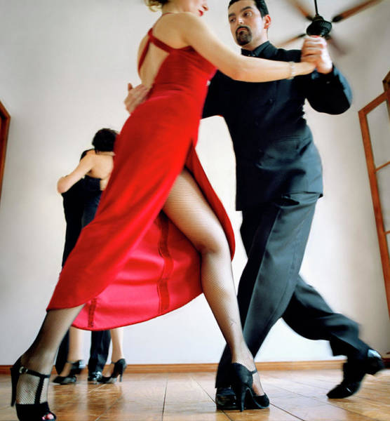 Heterosexual Couple Photograph - Tango Dancers by David Sacks