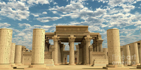Wall Art - Digital Art - Temple Of Ancient Pharaohs by Corey Ford