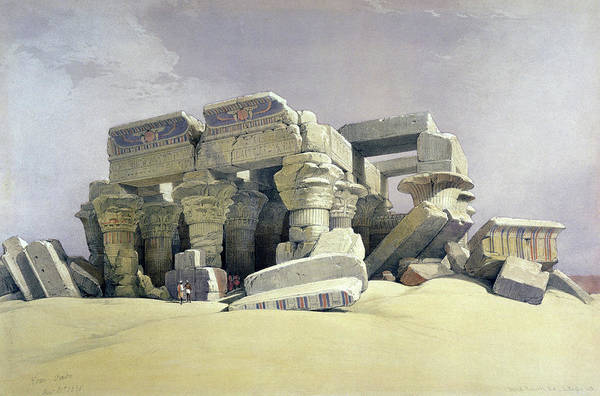Philae Painting - Temple On Nile by David Roberts
