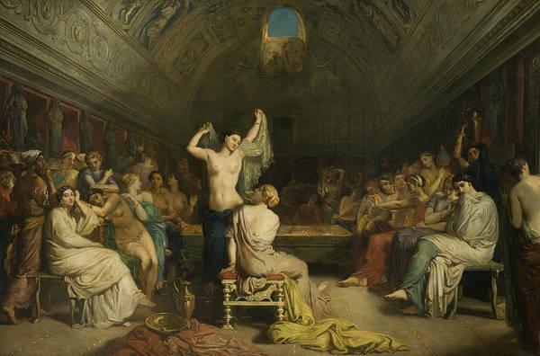 Tepidarium Painting - Tepidarium by Theodore Chasseriau