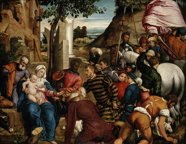 Wall Art - Painting - The Adoration Of The Kings by Jacopo Bassano
