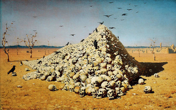 Wall Art - Painting - The Apotheosis Of War by Vasily Vereshchagin