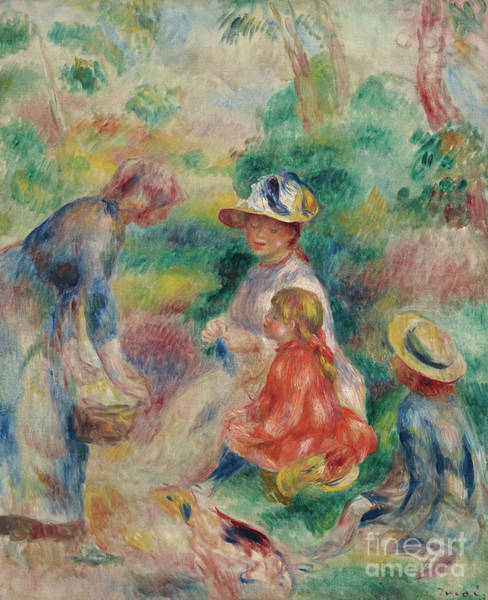 Wall Art - Painting - The Apple Seller by Pierre Auguste Renoir