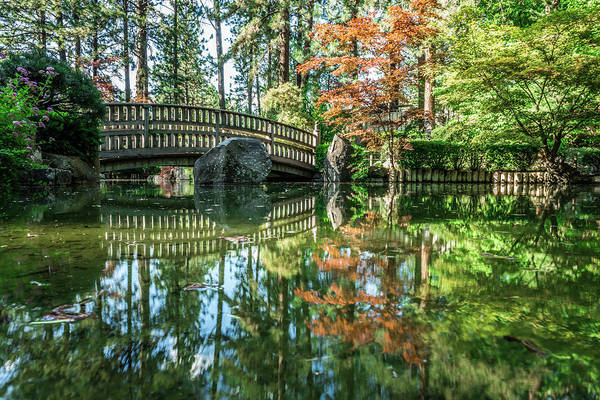 Photograph - The Beautiful Japanese Garden At Manito Park In Spokane, Washing by Alex Grichenko