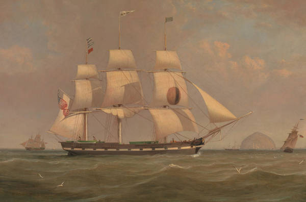 Painting - The Black Ball Line Packet Ship New York Off Ailsa Craig by William Clark