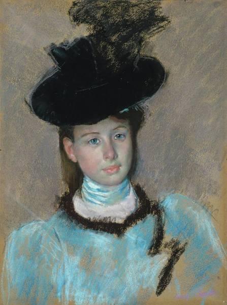 Wall Art - Painting - The Black Hat by Mary Cassatt