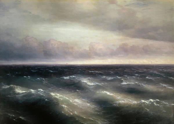 Wall Art - Painting - The Black Sea by Ivan Konstantinovich Aivazovsky