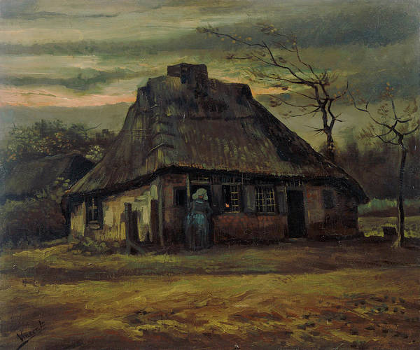 Rural Life Wall Art - Painting - The Cottage by Vincent Van Gogh