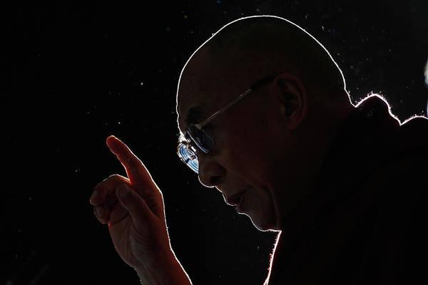 Dalai Lama Wall Art - Photograph - The Dalai Lama Visits The Uk by Christopher Furlong
