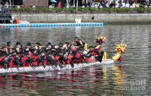 Photograph - The Dragon Boat Races In Southern Taiwan by Yali Shi