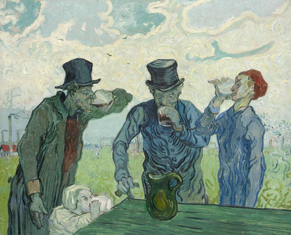 Wall Art - Painting - The Drinkers by Vincent van Gogh