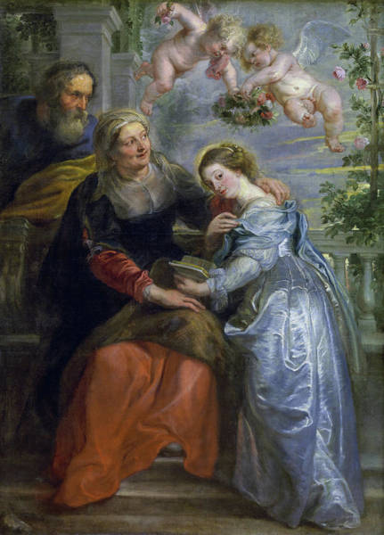 Wall Art - Painting - The Education Of The Virgin by Peter Paul Rubens
