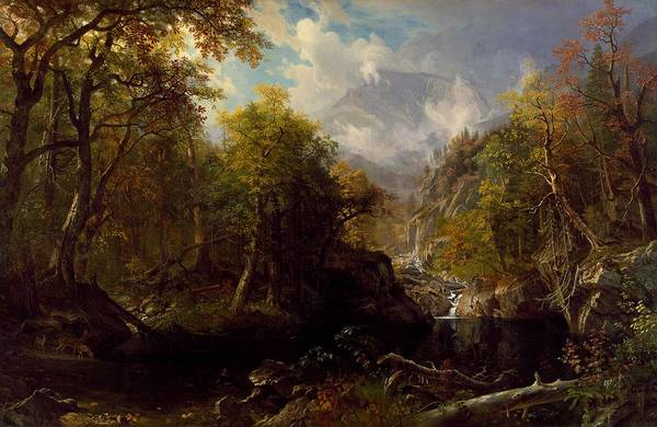 Painting - The Emerald Pool by Albert Bierstadt
