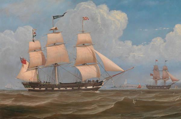 Painting - The English Merchant Ship Malabar by William Clark