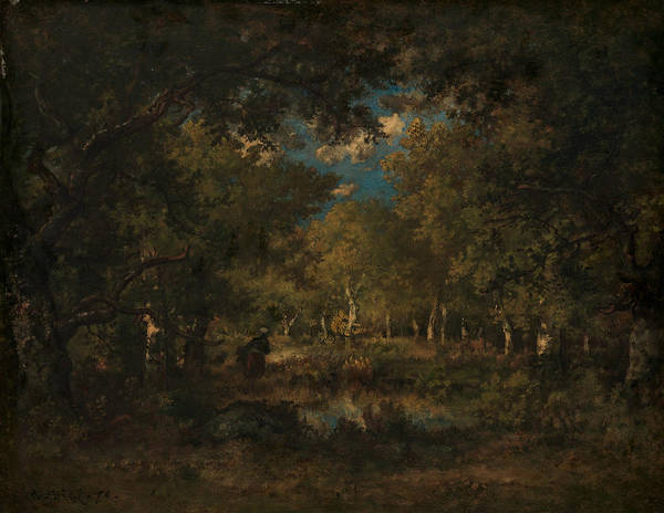 Painting - The Forest Of Fontainebleau by Narcisse Virgilio Diaz