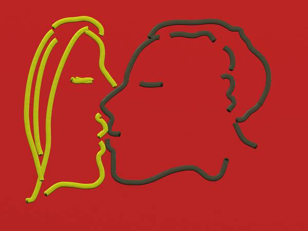 Digital Art - The Kiss by Paul Ramnora