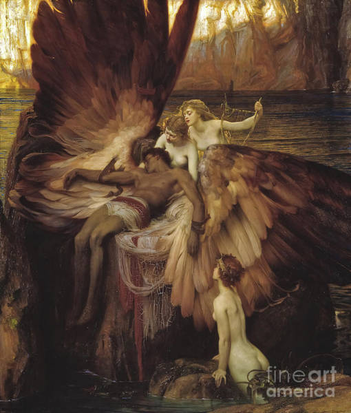 Wall Art - Painting - The Lament For Icarus by Herbert Draper