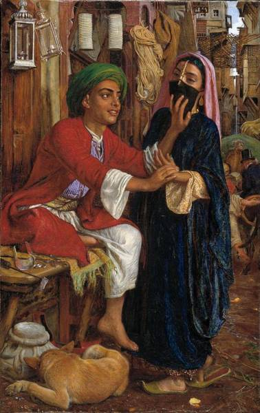 Courtship Wall Art - Painting - The Lantern Maker's Courtship, A Street Scene In Cairo by William Holman Hunt