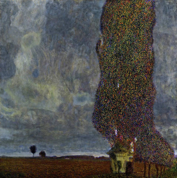 Wall Art - Painting -  The Large Poplar II - Gathering Storm by Gustav Klimt