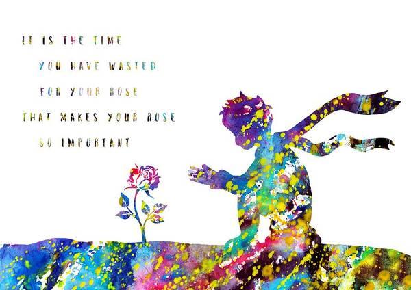 Wall Art - Digital Art - The Little Prince by Erzebet S