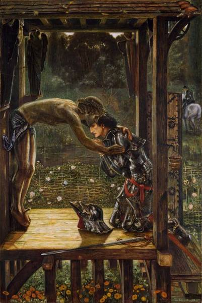Wall Art - Painting - The Merciful Knight by Edward Burne-Jones