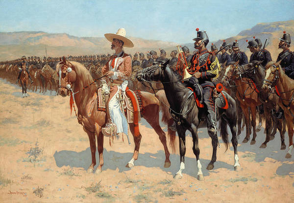 Wall Art - Painting - The Mexican Major by Frederic Remington