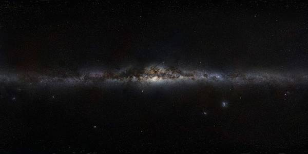 Wall Art - Painting - The Milky Way Panorama by Celestial Images