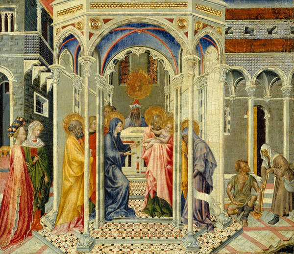 Wall Art - Painting - The Presentation Of Christ In The Temple by Giovanni di Paolo