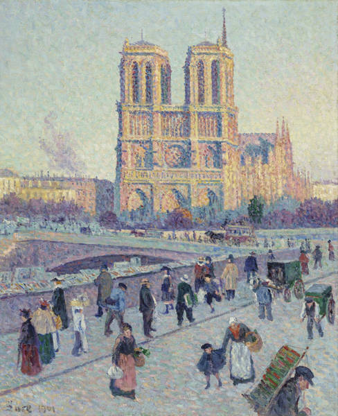 Wall Art - Painting - The Quai Saint-michel And Notre-dame by Maximilien Luce