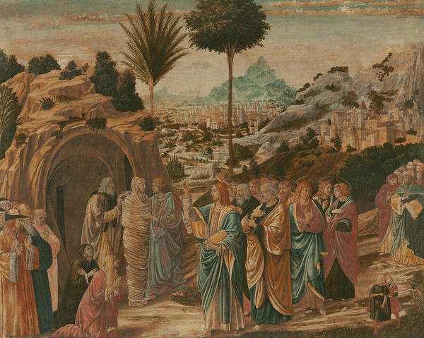 Wall Art - Painting - The Raising Of Lazarus by Benozzo Gozzoli
