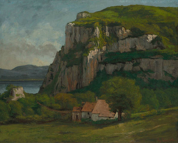 Wall Art - Painting - The Rock Of Hautepierre by Gustave Courbet