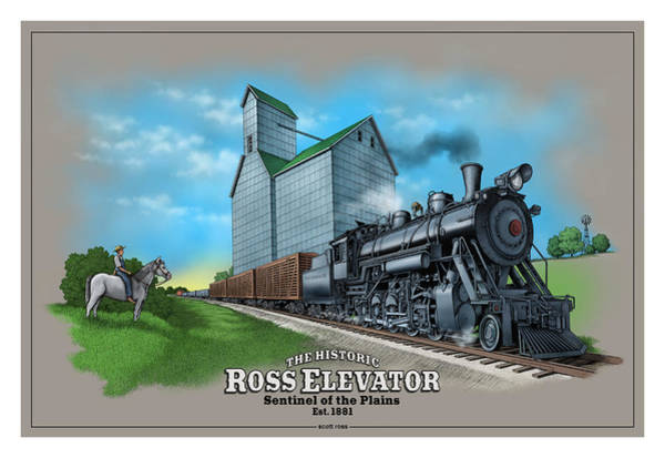 Photograph - The Ross Elevator / Sentinel Of The Plains by Scott Ross