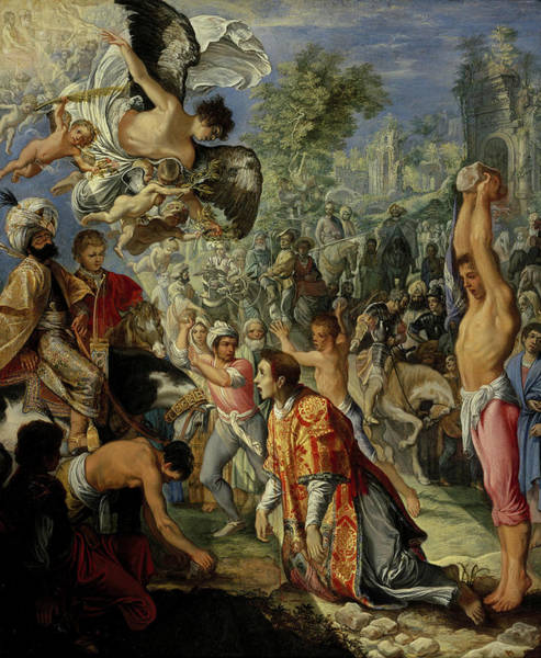 Wall Art - Painting - The Stoning Of Saint Stephen by Adam Elsheimer